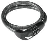 ABUS Fahrradschloss Numerino 1290/65, Black, 65 cm, 51609 -