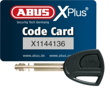ABUS Faltschloss 6500/85 Bordo Granit X-Plus, Black, 85 cm, 55160 -