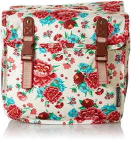 Basil Gepäckträgertasche Bloom Girls-Double Bag, Gardenia White, 31 x 12 x 27 cm, 20 Liter, 17591 -