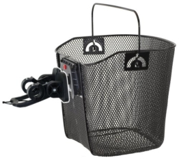 Drahtkorb mit Clip-on-Halter, schwarz, 35x25x25/22 cm -