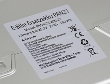 Ersatz-Akku für E-Bike Panasonic 26V 21Ah (Kettler Flyer Kalkhoff KTM Rixe ab 2007) von GTE -