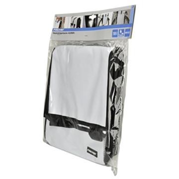Fischer Gepäckträger Tasche, Weiß, 4 x 32 x 41 cm, 18 Liter -