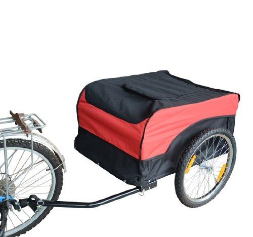 homcom 120401 002 fahrradanh nger rot schwarz l. Black Bedroom Furniture Sets. Home Design Ideas