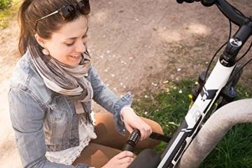 Kettenschloss & Zahlenschloss für Fahrräder oder Motorräder / ca. 100000 mögliche Zahlenkombinationen / erhältich in 9x Farben / Länge von ca.85 cm / Dicke der Elemente ca. 6mm ( idealer Diebstahlschutz ) »CloseUp« Rot -