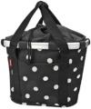 KLICKfix Damen Fahrradkorb, Black Dots, 35 x 28 x 26 cm -