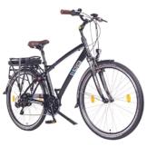 NCM Hamburg 28 Zoll Elektrofahrrad Herren/Damen Unisex Pedelec,E-Bike,City Rad, 36V 250W 14Ah Lithium-Ionen-Akku mit PANASONIC Zellen, matt schwarz -