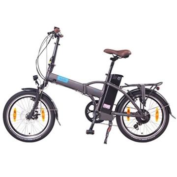 NCM London 20 Zoll Elektrofahrrad,E-Faltrad,E-Bike,Pedelec,Klapprad,36V 250W Bafang Motor, 36V Li-Ion Akku mit 14Ah PANASONIC Zellen,weiß,dunkel blau,schwarz,anthrazit (Anthrazit) -