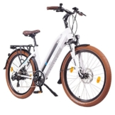 NCM Milano 26 Zoll Elektrofahrrad Herren/Damen Unisex Pedelec,E-Bike,Trekking Rad, 36V 250W 14Ah Lithium-Ionen-Akku mit PANASONIC Zellen, matt weiß -