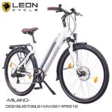 "NCM Milano 28"" Zoll Elektrofahrrad Herren/Damen Unisex Pedelec,E-Bike,Trekking Rad, 36V 250W 14Ah Lithium-Ionen-Akku mit PANASONIC Zellen, matt weiß -"