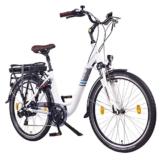 "NCM Munich 26"" Zoll Elektrofahrrad Herren/Damen Unisex Pedelec,E-Bike,City-Bike Rad, 36V 250W 14Ah Lithium-Ionen-Akku mit PANASONIC Zellen, matt weiß -"