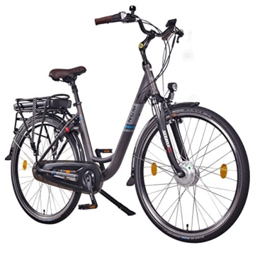 """NCM Munich N7C,28"""" Zoll Elektrofahrrad Herren/Damen Unisex Pedelec,E-Bike,City Elektrofahrrad mit Rücktrittbremse, 36V 250W 14Ah Lithium-Ionen-Akku mit 504Wh PANASONIC Zellen, anthrazit -"""