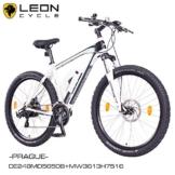 "NCM Prague 27,5"" Zoll Elektrofahrrad Mountainbike E-MTB E-Bike,Pedelec mit 250W Bafang Heckmotor 36V Li-Ion Akku mit 13Ah,weiß,schwarz -"