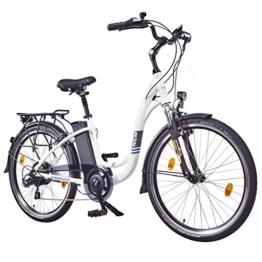 "NCM Rome,26"" Zoll Elektrofahrrad Herren/Damen Unisex Pedelec,E-Bike,City Rad, 36V 250W 13Ah Lithium-Ionen-Akku mit 468Wh, weiß -"