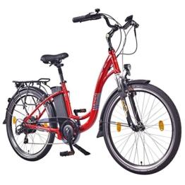 "NCM Rome,26"" Zoll Elektrofahrrad Herren/Damen Unisex Pedelec,E-Bike,City Rad, 36V 250W 13Ah Lithium-Ionen-Akku mit 468Wh, rot metallic -"