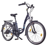 "NCM Rome,26"" Zoll Elektrofahrrad Herren/Damen Unisex Pedelec,E-Bike,City Rad, 36V 250W 13Ah Lithium-Ionen-Akku mit 468Wh, dunkel blau -"
