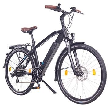 "NCM Venice 28"" Zoll Elektrofahrrad Herren/Damen Unisex Pedelec,E-Bike,Trekking Rad, 36V 250W 14Ah Lithium-Ionen-Akku mit PANASONIC Zellen, matt schwarz -"