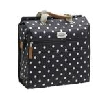 New Looxs Lilly polka black Einkaufstasch Fahrradtasche Shoppingtasche -
