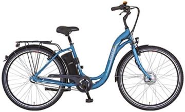 Prophete Damen Elektrofahrrad E-Bike Alu-City 28 Zoll Navigator 6.0, eisblau matt, 46, 52426-0111 -