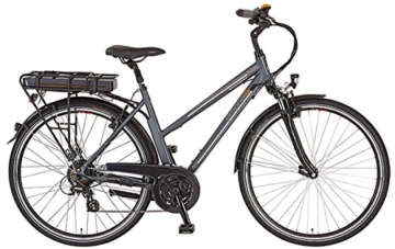 Prophete Damen Elektrofahrrad E-Bike Alu-Trekking 28 Zoll Navigator 6.4, anthrazit matt, 50, 52526-0111 -