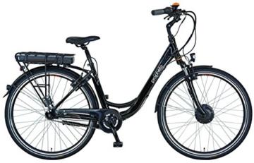 Prophete E-Bike Alu-City Damen 28 Zoll NAVIGATOR 6.01 Inklusive SAMSUNG Smartphone Trend Lite mit Prophete App -
