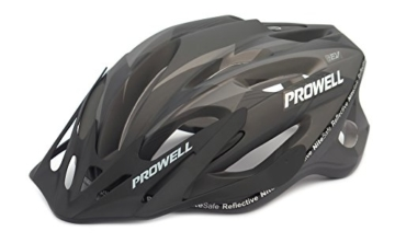 Prowell F59R Vipor F59R Fahrradhelm schwarz Matt Schwarz Gr. M (55-61 cm) -