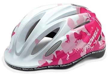 Prowell K800 Fahrradhelm für Kinder, in fünf Farben erhältlich Rosa rose Gr. S (52-58 cm) -