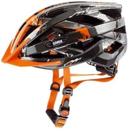 Uvex Fahrradhelm i-vo C, Dark Silver/Orange, 56-60 cm, 4104170317 -