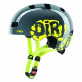 Uvex Kid 3 Fahrradhelm, Dirtbike Gray-Lime, 51-55 cm -