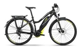 E-Bike Haibike SDURO Trekking SL 400Wh/36V/250W 10G 28' Damen in schwarz/lime/grau matt , Rahmenhöhen:52 cm -