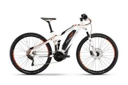 "HAIBIKE Sduro FullNine 6.0 29"" weiß/anthrazit/orange Rahmengröße 50 cm 2017 E-Fully -"