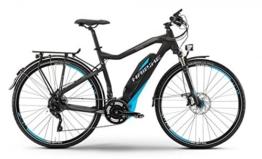 HAIBIKE Sduro Trekking RC Damen schwarz/cyan/grau matt Rahmengröße 52 cm 2016 E-Trekkingrad -