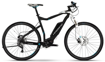 Haibike Xduro Cross RC 28 Zoll Anthrazit/Weiß/Cyan Matt (2016), 48 -