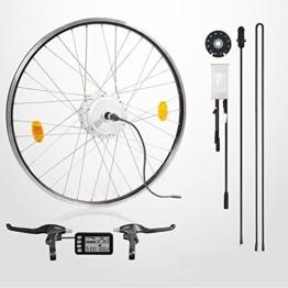"""E-Bike Conversion Kit, 48V 350W, 26"""", Umbausatz mit Heckmotor, LCD-Display, max 35km/h, für Schraubkränze, Scheibenbremse geeignet -"""