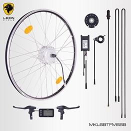 """E-Bike,Pedelec,Elektrofahrrad Conversion Kit, 36V 250W, 28"""" Zoll,Umbausatz mit MXUS Frontmotor,LCD Display, für Scheibenbremsaufnahme geeignet, mit Sinus wave Controller und Daumengashebel -"""
