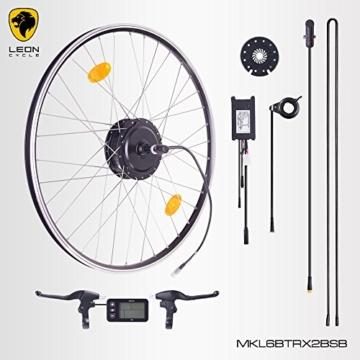 """E-Bike,Pedelec,Elektrofahrrad Conversion Kit, 36V 350W, 26"""" Zoll,Umbausatz mit Bafang Heckmotor,LCD Display, für Schraubkranz,Scheibenbremsaufnahme geeignet,bis 35 km/h, mit Sinus wave Controller und Daumengashebel -"""