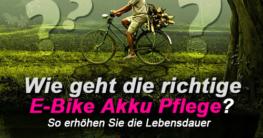 E-Bike Akku richtig pflegen