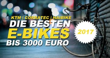 Die besten E/Bikes bis 3000 Euro im Jahr 2017