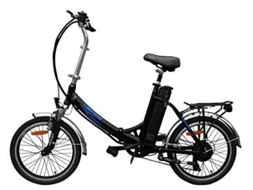 20 Zoll SWEMO Alu Klapp E-Bike / Pedelec SW200 Neu (Schwarz) - 1