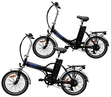 Ein Paar (2 Stk.) 20 Zoll SWEMO Alu Klapp E-Bike / Pedelec SW100 & SW200 Neu (Schwarz) - 1