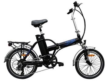 Ein Paar (2 Stk.) 20 Zoll SWEMO Alu Klapp E-Bike / Pedelec SW100 & SW200 Neu (Schwarz) - 2
